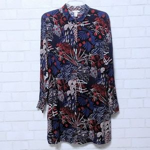 H&M Floral Button Up Tunic Top 12